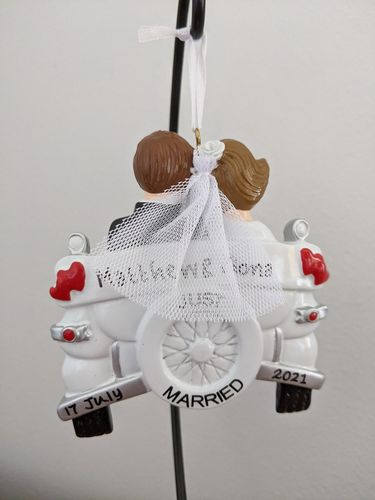 Just Married Vintage Car Personalised Wedding Decoration