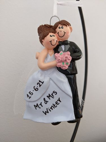 Cosy Couple Brown Personalised Wedding Decoration