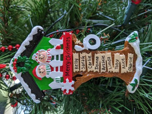 Christmas Tree House Family Personalised Christmas Decoration