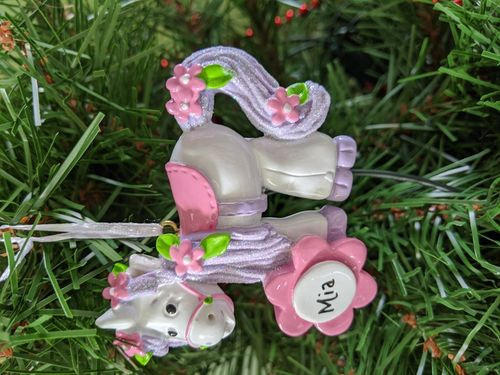 Unicorn Personalised Christmas Decoration