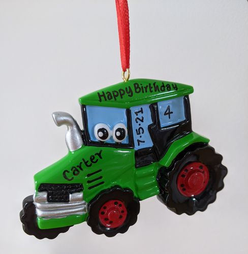 Tractor Toy Personalised Decoration / Birthday Gift for Children / Little Farmer