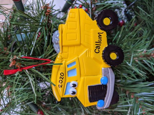 Dump Truck Toy Personalised Decoration