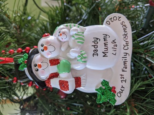 Our 1st Family Christmas Personalised Christmas Decoration