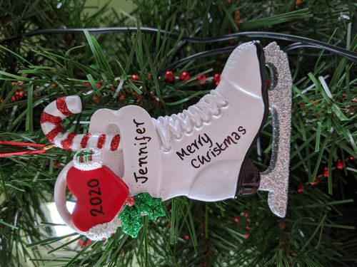 Ice Skating Boot Personalised Christmas Decoration
