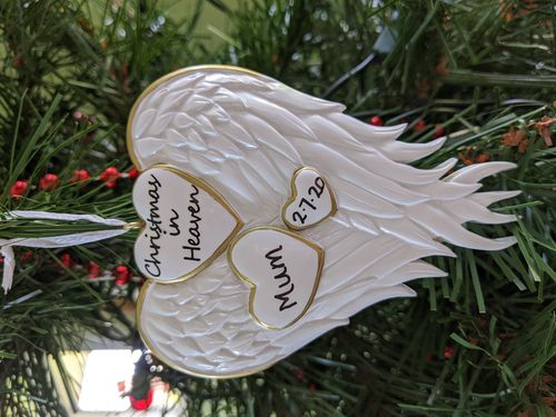 Christmas in Heaven Memorial Personalised Christmas Decoration