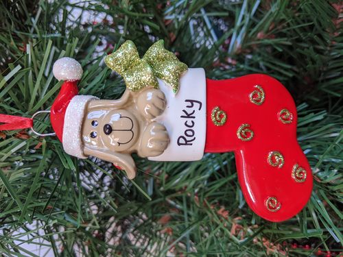 Dog Stocking Personalised Christmas Decoration