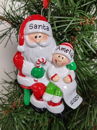 Santas Visit Personalised Christmas Decoration