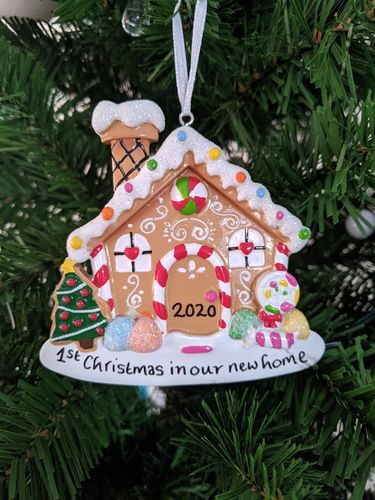 Our Sweet Gingerbread House Personalised Christmas Decoration