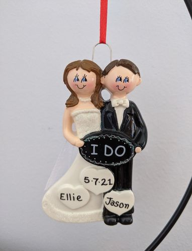I Do Bride & Groom Personalised Wedding Decoration
