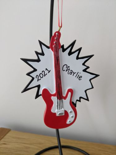 Electric Guitar Personalised Decoration